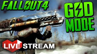 Fallout 4 Gameplay NUKE THE WASTELAND!! - GOD MODE, Fat Man MIRV & Funny Cheats - Live Stream