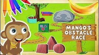 Узнать Формы И Цвета С Горами Препятствий Манго | Забавные Мультфильмы Для Детей