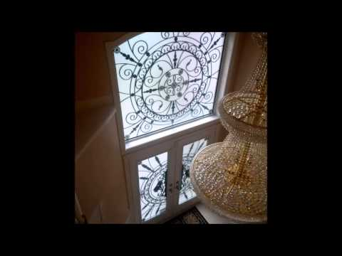 Wrought Iron Amp Stained Glass Door Inserts Window