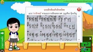 สื่อการเรียนการสอน การคัดลายมือม.2ภาษาไทย