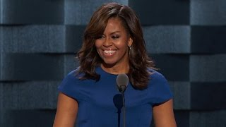 Michelle Obama addresses the DNC