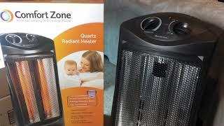 Comfort Zone Quartz Radiant Heater Product Review