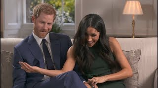 Gambar cover Prince Harry and Meghan Markle caught on camera joking around after engagement interview
