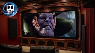 """Home Theater Tour with 150"""" screen and Klipsch 7.2.4 Dolby Atmos!"""