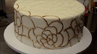 Wedding Cake Gold Piping Tutorial