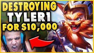 THIS GAME MADE TYLER1 TILT FROM D2 TO D4 (10+ LOSS STREAK) RIP $10,000 - League of Legends
