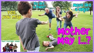 PLAYGROUND WARS!   Mother May I? Game (Kids Favorite) That YouTub3 Family | The Adventurers