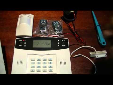 , title : 'Wireless  GSM alarm full review,  programming and  test'