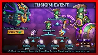 Knights and Dragons - Rumbling FUSION TREE Event (Spirit/Earth Enhanced Rumbling) INSANE STATS!