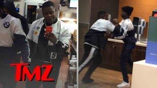 Blac Youngsta Crashes McDonald