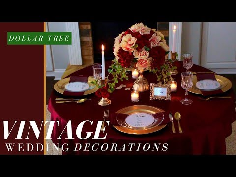DOLLAR TREE FALL WEDDING DECORATION | DIY VINTAGE WEDDING CENTERPIECE