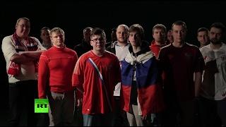 «Приезжайте, не тронем»: российские футбольные болельщики спели песню британским фанатам