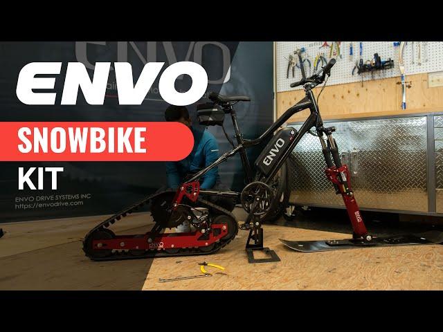 Набор Envo превратит любой велосипед вэлектрический снегокат