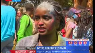 Nyeri Youths' converge in Burden Powell grounds for Colour Festival by Cross Connect Creative 360
