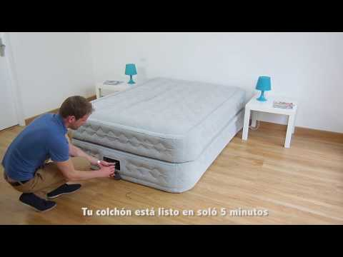 Colchón Hinchable Eléctrico Intex Supreme Bed Fiber Tech 2 personas - 64464