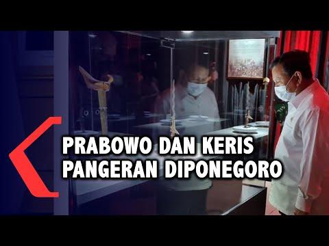 lama tak muncul prabowo unggah foto bersama keris pangeran diponegoro