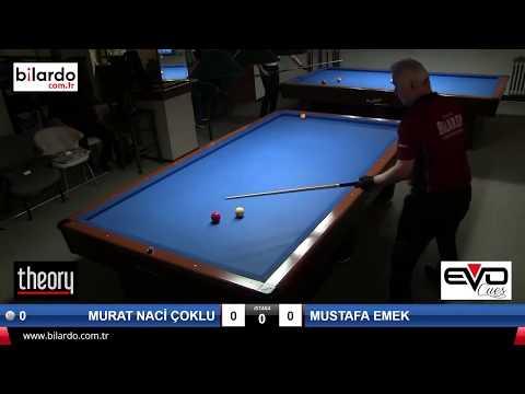 MURAT NACİ ÇOKLU (80) & MUSTAFA EMEK (58) Bilardo Maçı - TÜZÜL CLUB 2018 HANDİKAPLI LİG FİNALLERİ-Çeyrek Final