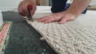 How to seam together carpet.