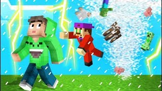 Playing MINECRAFT With TORNADOS! (Dangerous)