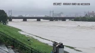 〇京都桂川下流桂離宮周辺氾濫危険水位2018070613:36
