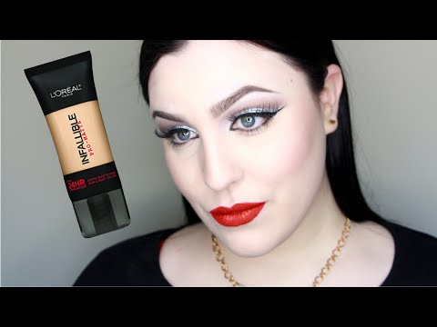 L'OREAL INFALLIBLE PRO MATTE 24 HOUR WEAR FOUNDATION REVIEW