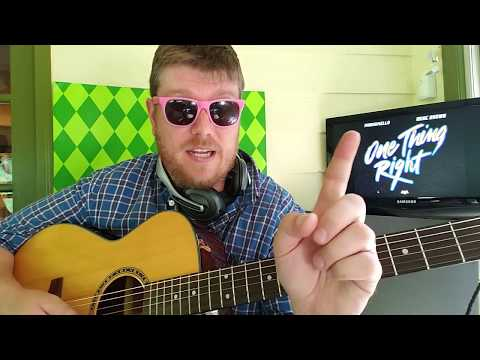 One Thing Right - Marshmello, Kane Brown // easy guitar lesson tabs easy chords strumming tutorial