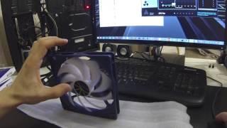 TITAN TFD 14025H12ZP/KE(RB) обзор вентилятора, fan review