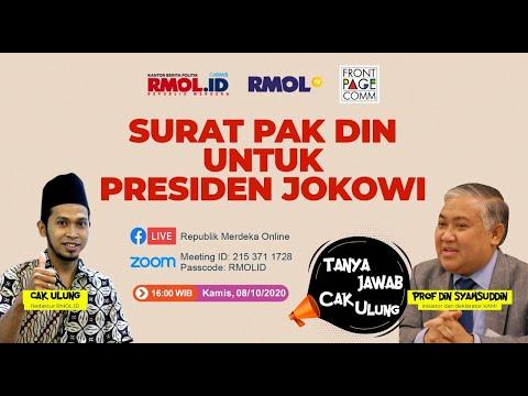 Tanya Jawab Cak Ulung • Surat Pak Din untuk Presiden Jokowi