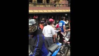 Traffic in Kathmandu, Nepal 2013.