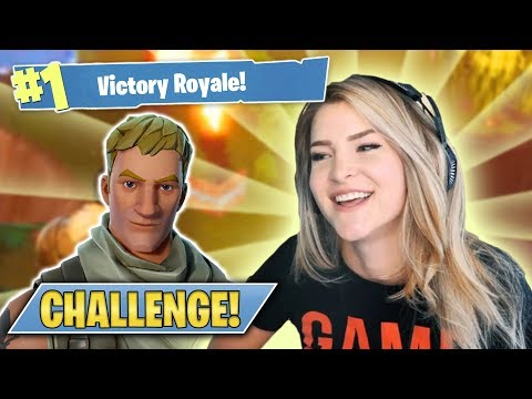 THE DEFAULT SKIN CHALLENGE! (Fortnite: Battle Royale) | KittyPlays mp3
