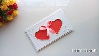 Beautiful Handmade Valentines Day Card Idea / DIY Greeting Cards For Valentines Day Card.