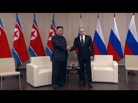 بوتين وكيم جونغ أون يترأسان اجتماعا موسعا بين الوفدين الروسي والكوري الشمالي