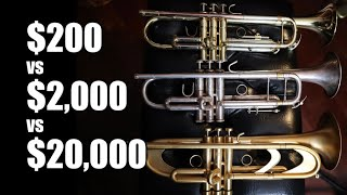 $200, $2,000 and $20,000 Trumpet Comparison! Can you hear the difference?