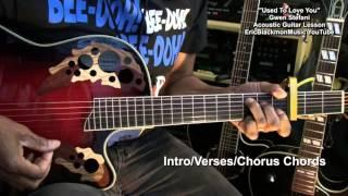 Gwen Stefani USED TO LOVE YOU Guitar EASY Tutorial Lesson EricBlackmonMusicHD