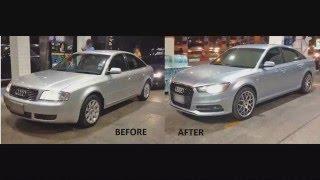Audi A6 C5 to C7 front end conversion