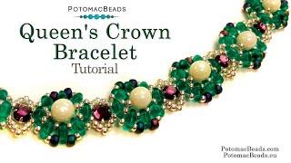Queens Crown Bracelet - DIY Jewelry Making Tutorial Y PotomacBeads