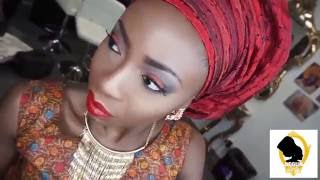 Bridal Guest Look!RED LID & LIPS FULL FACE MAKEUP & GELE
