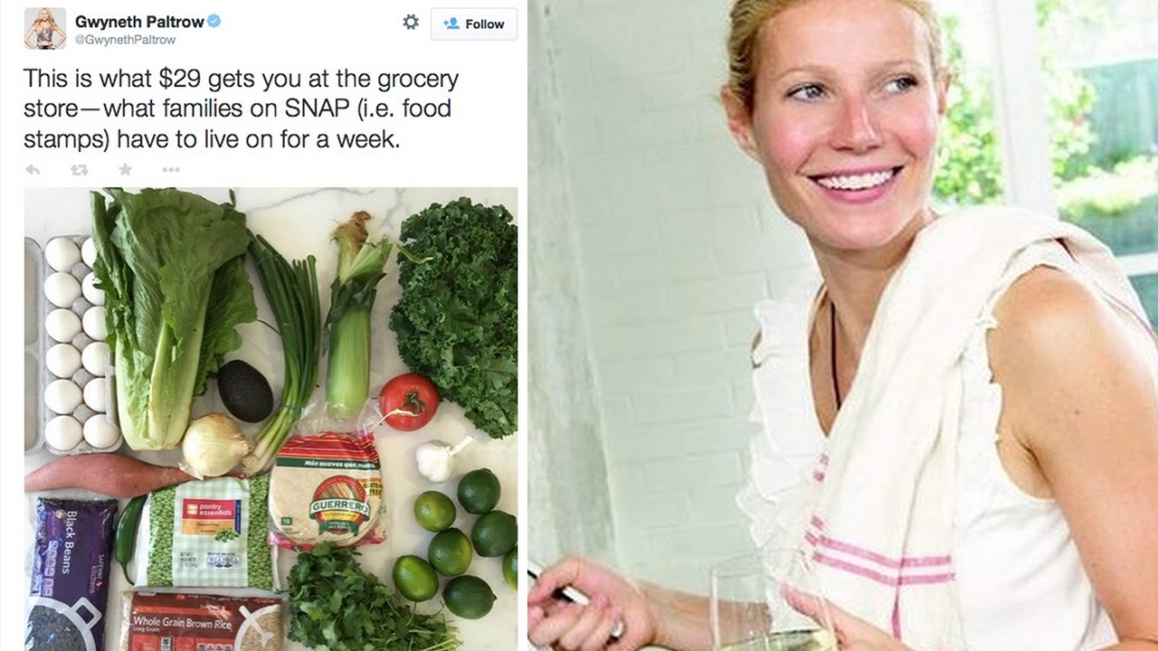 Social Media Outraged By Gwyneth Paltrow's Food Stamp Challenge thumbnail