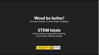 Video: Wissen schaf[f]t Zukunft Preis 2020 - Call for Concept Prämierungen: Wood be better! Materialwissenschaften zum Angreifen und Mitnehmen und STEM fatale – aiming at gender equality in leadership positions in STEM