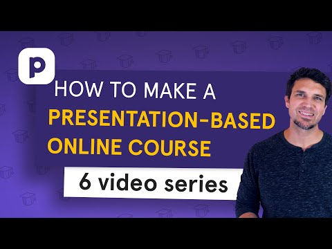 How to make a presentation-based online course - YouTube