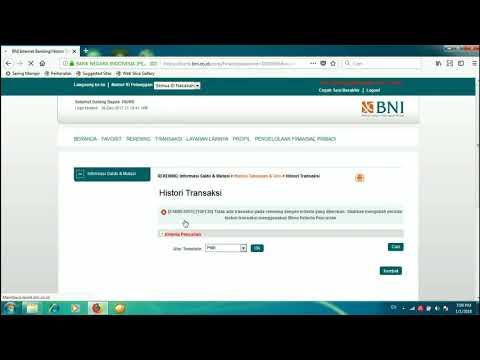 Cara Cetak Rekening Koran Melalui Internet Banking