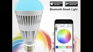 LED Light Bulb Controlled by your IPhone - How to Guide - Disco Feature
