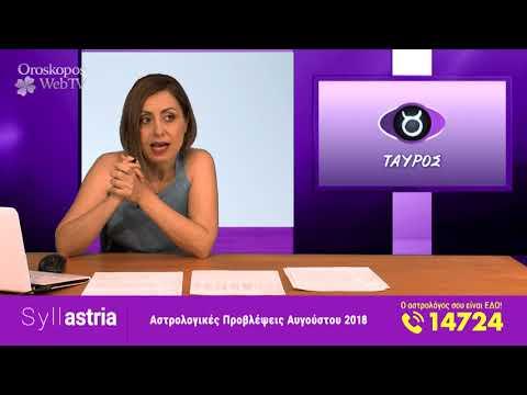 Μηνιαίες Προβλέψεις Αυγούστου 2018 σε βίντεο από την Μαρία Σύλλα