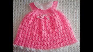 How to crochet a baby dress for 0-3 months (sinhala)❤️❤️💃💃💃💃