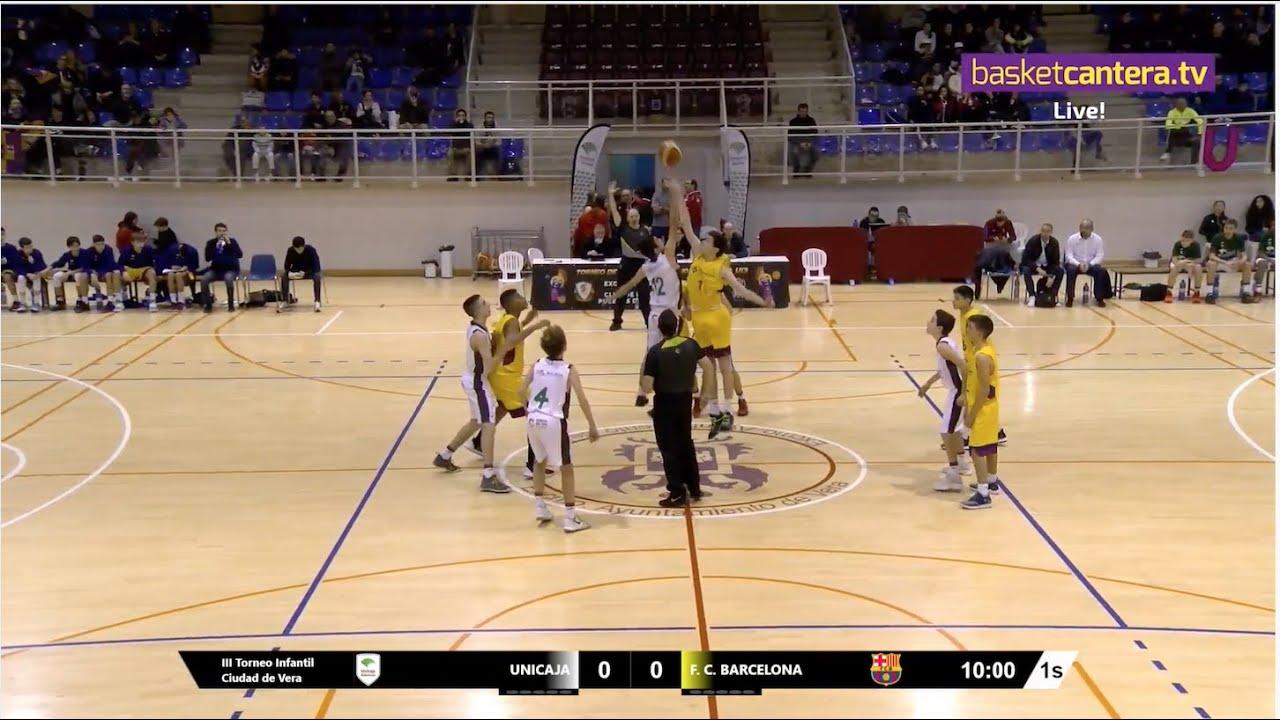 U13M - UNICAJA vs FC. BARCELONA .- III Torneo Infantil Ciudad de Vera (BasketCantera.TV)