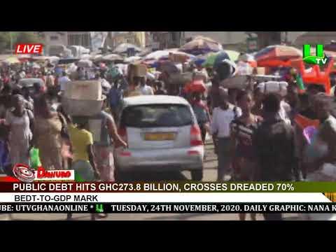 Ghana's debt stock hits GHS273.8 billion, crosses dreaded 70% debt-to-GDP mark