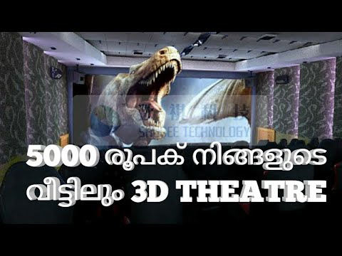 How To Create Theatre In Your Home For Rs.5000 | unic uc46 projector review malayalam