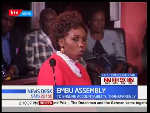 Embu senator sets out new parameters to ensure accountability and transparency