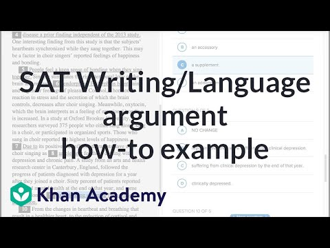 Writing Argument How To Example Video