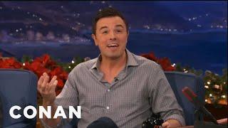 Seth MacFarlane Reacts To Justin Bieber's Stewie Bling - Conan on TBS